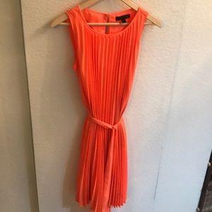 Banana Republic Chiffon Bright Orange Dress